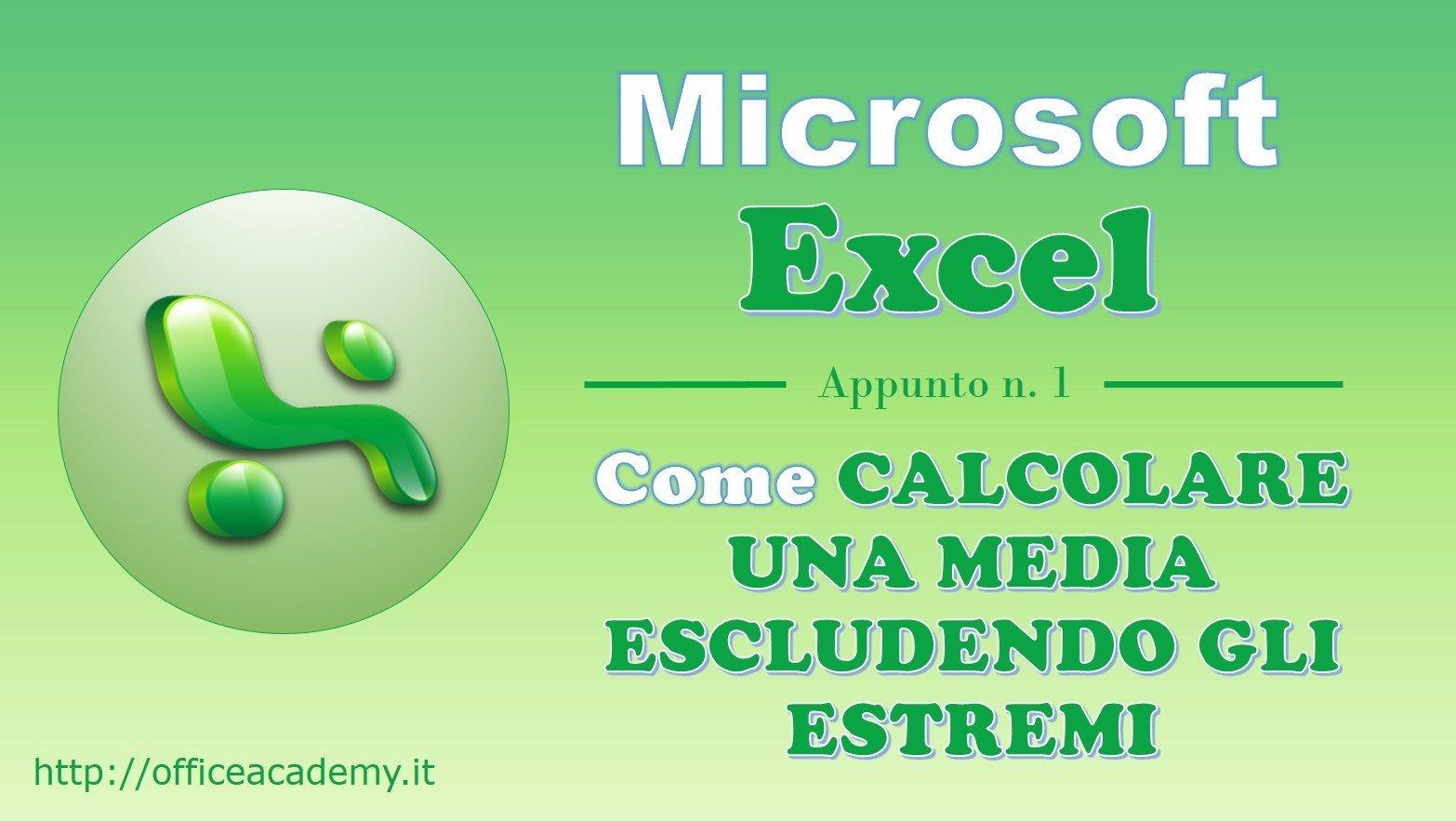 #Excel - Come calcolare una media escludendo il valore minimo e il valore massimo 2