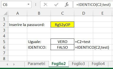 Verificare una password3