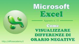 #Excel - Come visualizzare differenze di orario negative 14