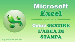 #Excel - Come gestire l'area di stampa [VBA] 4