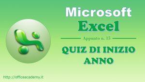 #Excel - Quiz di inizio anno 6
