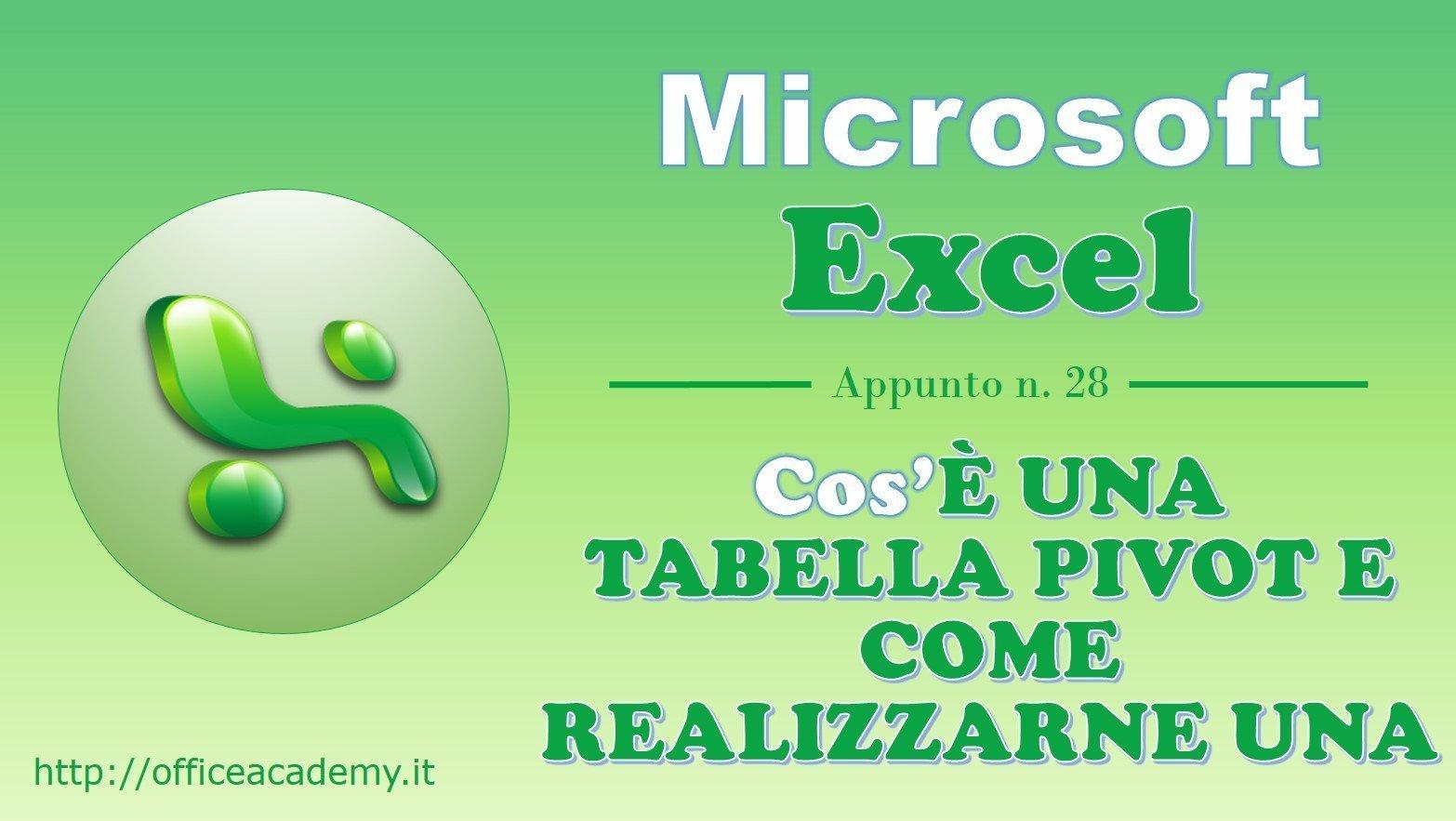 #Excel - Cos'è una Tabella Pivot e come realizzarne una 2