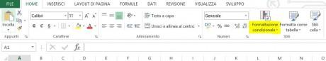 La formattazione condizionale in Excel