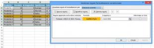 Formattazione condizionale di Excel con la funzione E
