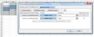 Formattazione condizionale per confontare 2 colonne alla ricerca di duplicati
