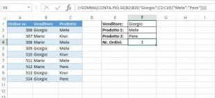 Formula matriciale per contare le celle con condizioni multiple