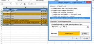 Formule di formattazione condizionale basate su valori di testo