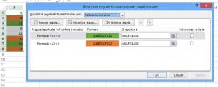 Usare gli operatori logici nella formattazione condizionale