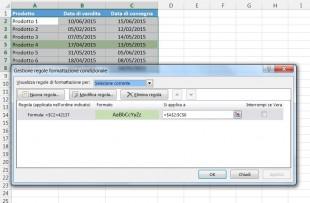 Evidenziare ogni riga che abbia una certa data in una determinata colonna