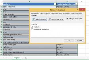 Strumento incorporato di Excel per la rimozione dei duplicati