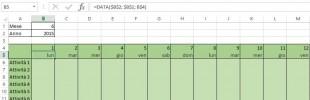 Usare la funzione DATA di Excel per mostrare i giorni della settimana