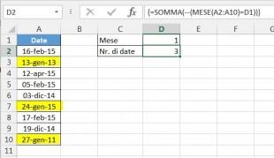 Usare operatore doppio unario nelle formule matriciali di Excel