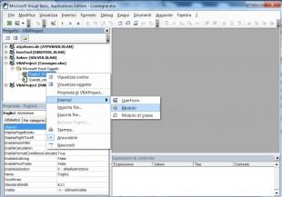 Cliccate Inserisci - Modulo per aggiungere una User Defined Function al foglio di lavoro