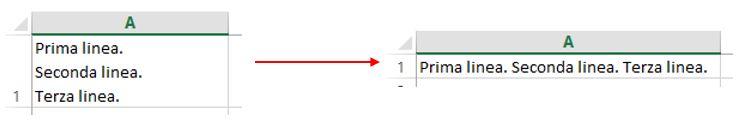 Come rimuovere i ritorni a capo dalle celle di Excel
