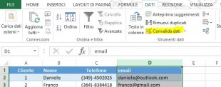 Lo strumento Convlida dati