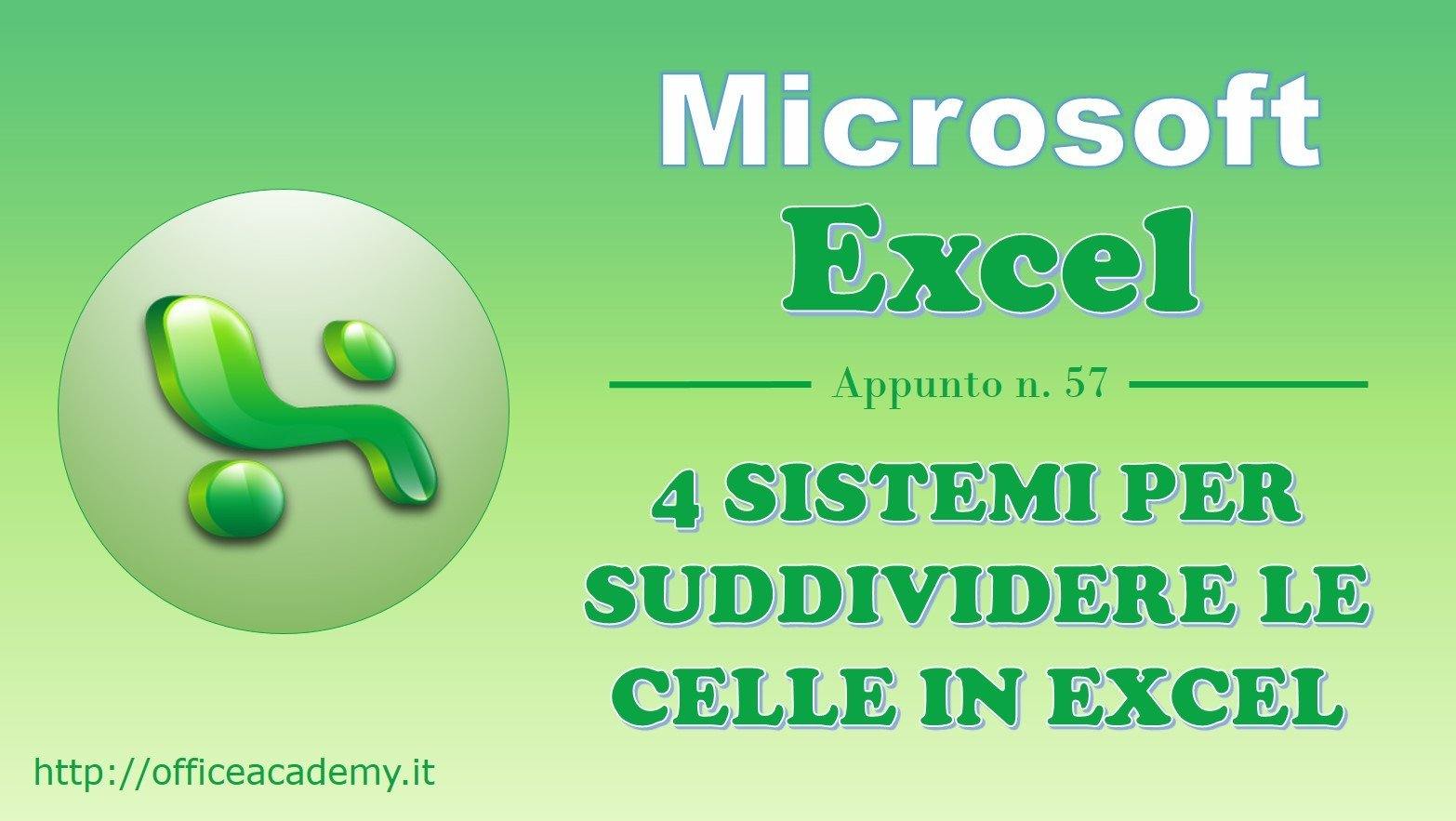 4 sistemi per suddividere le celle in Excel