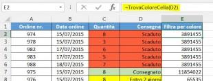 Aggiungete la formula per ottenere il codice colore