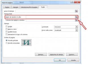 Cliccate su Comprimi finestra per tornare al foglio dilavoro e selezionare le righe