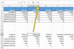 I collegamenti ai dati originali sono copiati in una nuova tabella