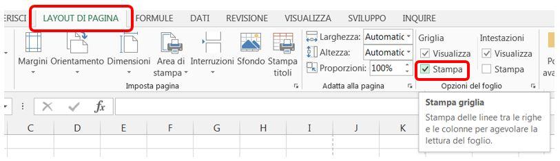 Excel come stampare le linee della griglia in excel for Disegni della barra del garage