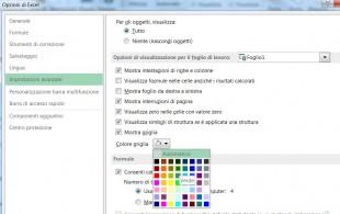 Aprite la griglia dei colori disponibili per modificare il colore delle linee