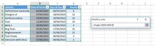 Selezionate i dati relativi alla Durata del vostro progetto
