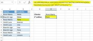 La formula CERCA VERT per trovare la seconda occorrenza senza una tabella di supporto