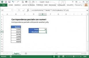 Trovare una corrispondenza parziale tra numeri