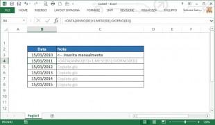 Come generare una serie di date per anno