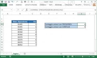 Contare i valori numerici univoci
