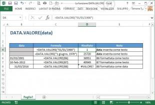 La funzione DATA.VALORE