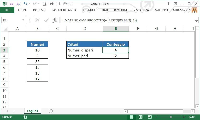 hot sale online 13048 33133 Excel - Come contare le celle che contengono numeri dispari ...