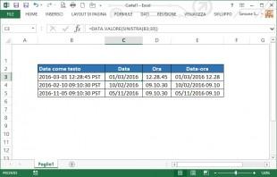 Convertire date in formato testo in date