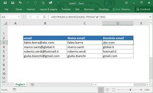 Estrarre dominio da indirizzo email