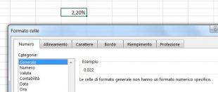 Come vedere il valore reale dietro alla formattazione percentuale di Excel
