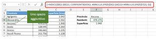 Se gli spazi in eccesso si trovano nella tabella di ricerca, usate INDICE CONFRONTA ANNULLA.SPAZI invece di CERCA.VERT