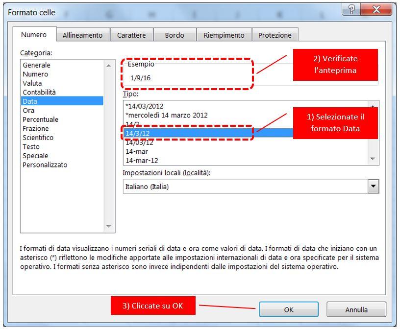 aa42ddd25e Come cambiare il formato delle date in Excel e creare formati ...