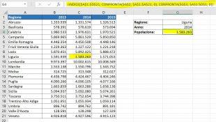 La formula INDICE CONFRONTA per cercare a 2 vie in Excel