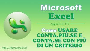 #Excel – Come usare CONTA.PIÙ.SE e CONTA.SE con più di un criterio