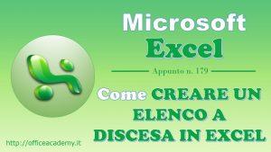 Come creare un elenco a discesa in #Excel