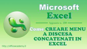 Come creare menu a discesa concatenati (dipendenti) in #Excel