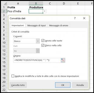 Creare un menu a discesa con voci composte di piu parole
