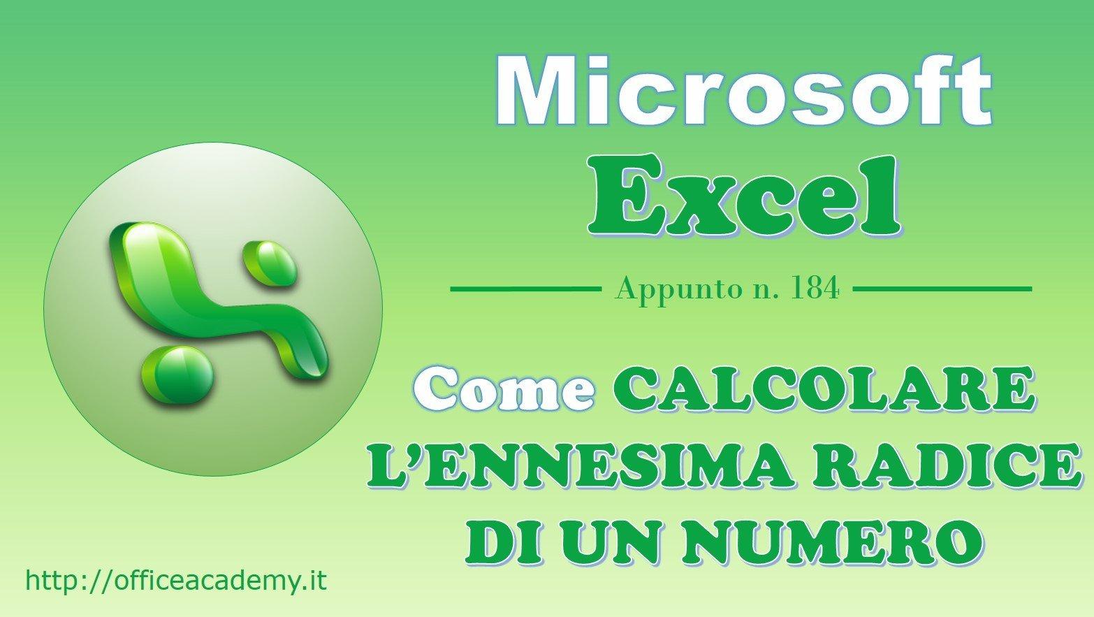 #Excel - Come calcolare l'n-esima radice di un numero [Quick Tip] 2