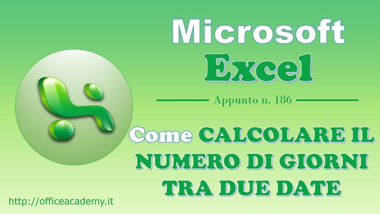 100% authentic 115f8 15a50 Excel - Come calcolare il numero di giorni tra due date ...