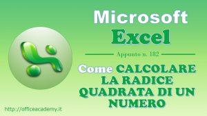 #Excel - Come calcolare la radice quadrata di un numero [Quick Tip] 10