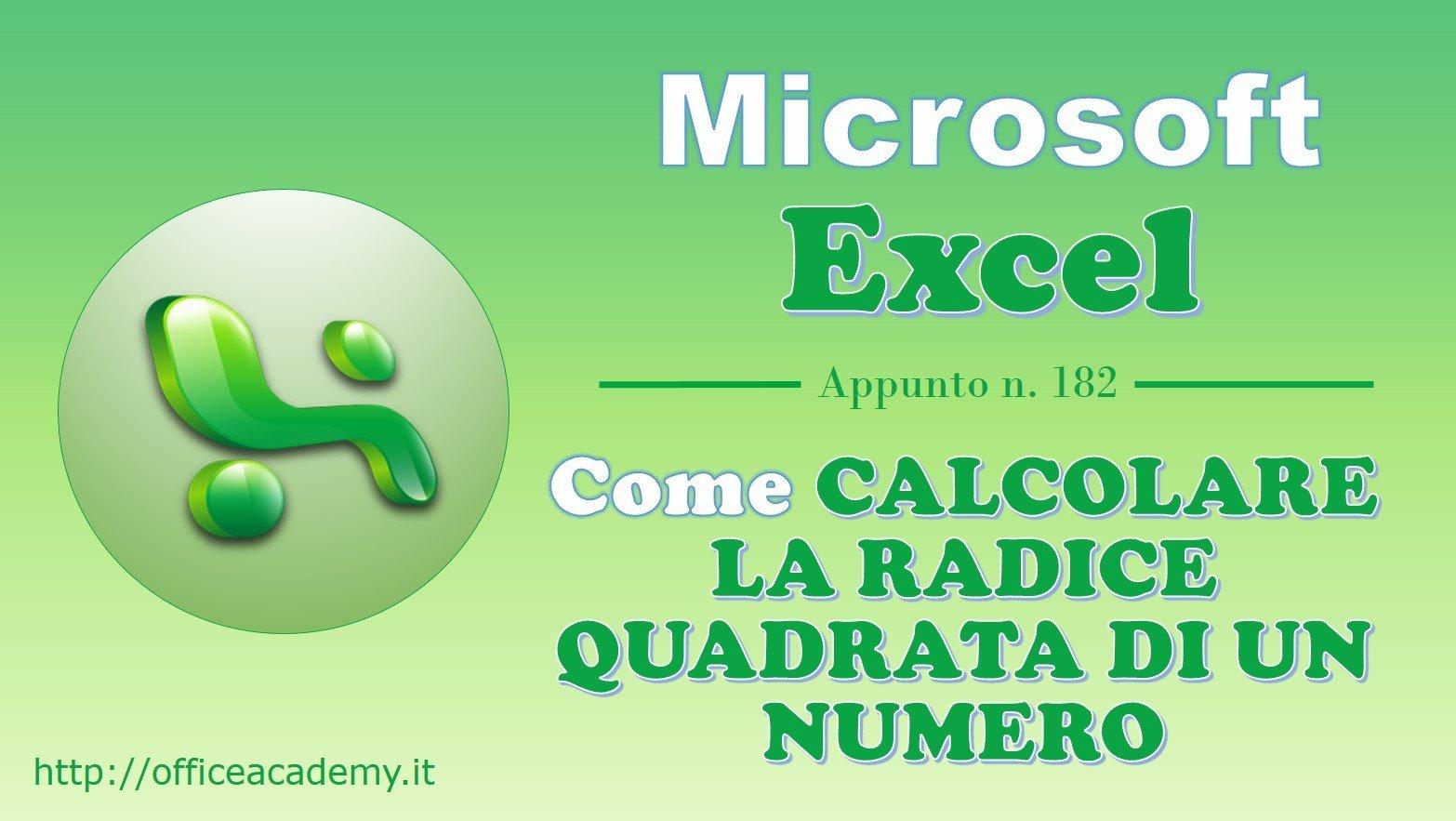 #Excel - Come calcolare la radice quadrata di un numero [Quick Tip] 2