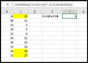 Usare formule matriciali con SOMMA nelle versioni moderne di Excel