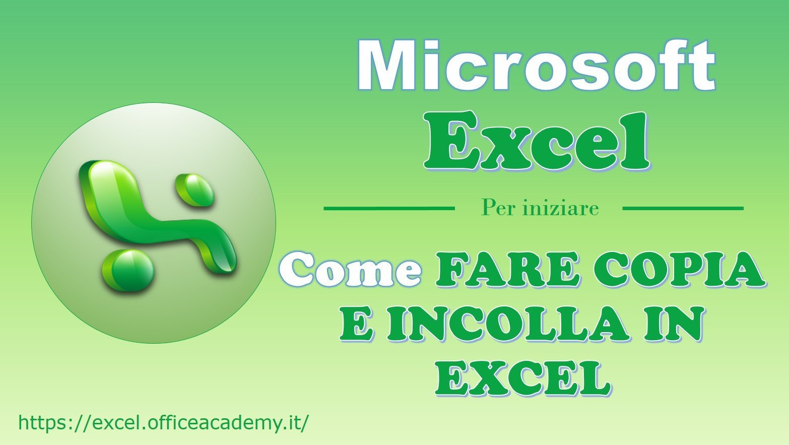 Come fare copia e incolla in Excel