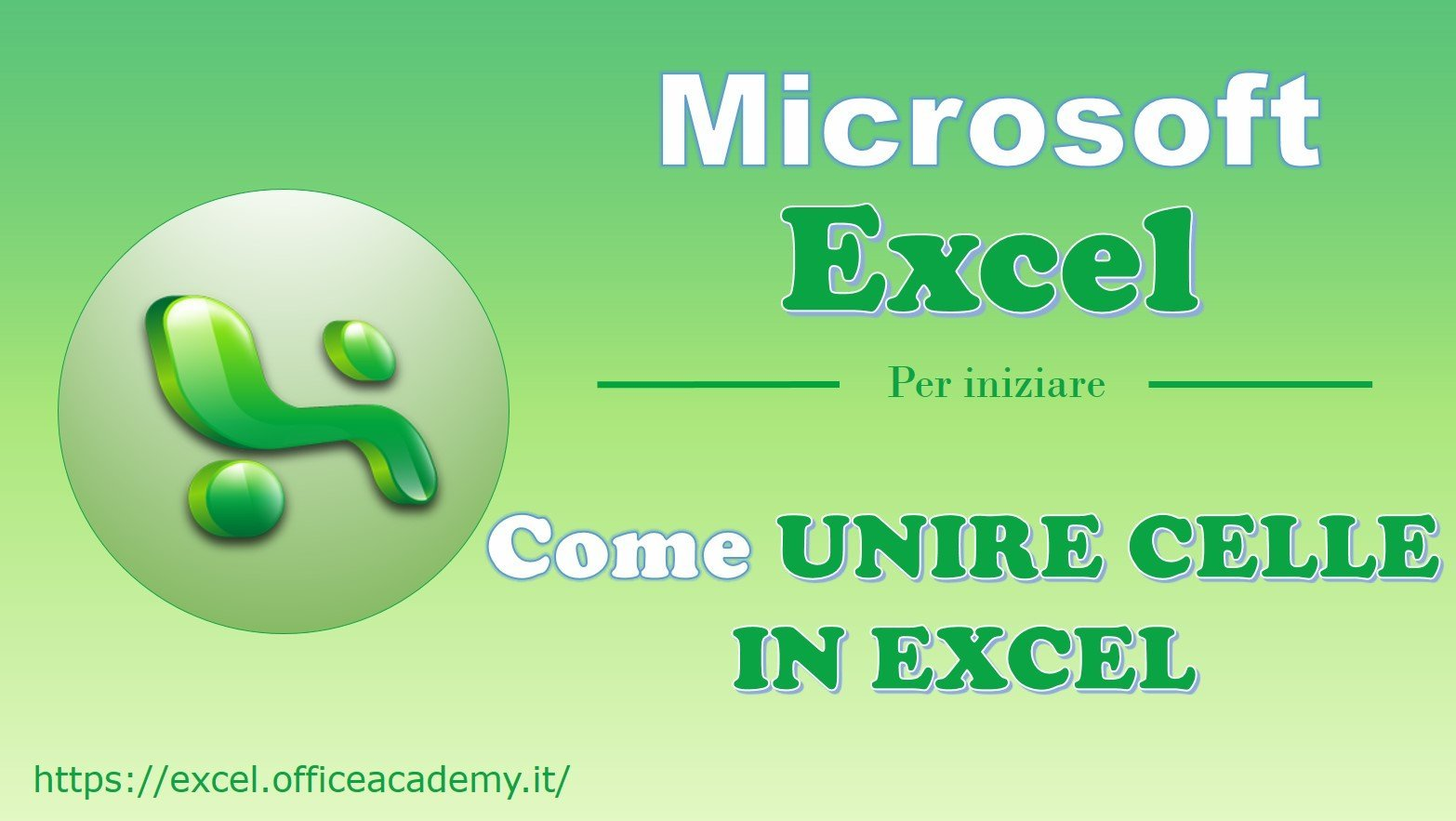 Come unire celle in Excel