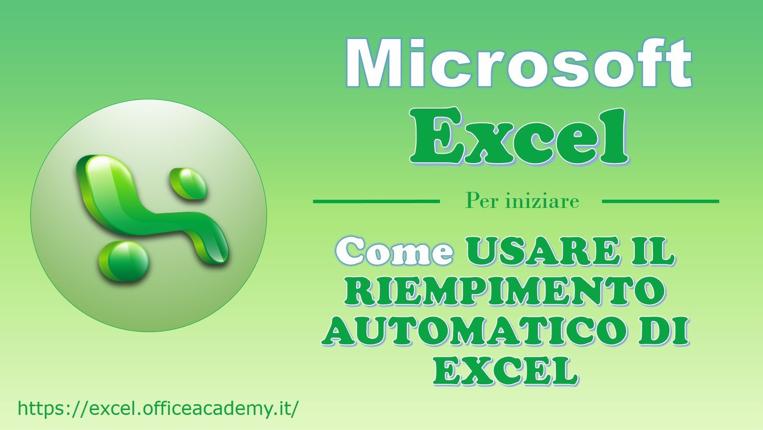 Come usare il Riempimento automatico di Excel